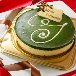 濃厚宇治抹茶クリスマスチーズケーキ
