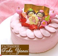 ひな祭りケーキ【パティスリー『TakaYanai』】