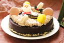 濃厚チョコバタークリスマスケーキ【パンとケーキの店Pao】