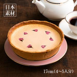 丹波黒豆のチーズケーキ 八重桜をのせて【サクラスイーツ】