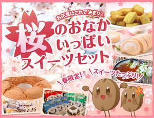 桜のおなかいっぱいスイーツセット【澤井珈琲】