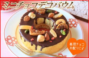 ミニチョコデコバウム【フランス菓子工房 ラ・ファミーユ】