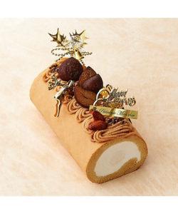 クリスマスの堂島モンブランロール【パティスリー モンシェール】